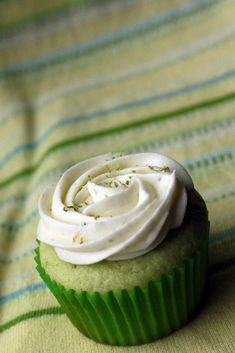 KEY LIME CUPCAKES (Adapted from Bon Appetit - recipe originally from Bittersweet Bakery)  Makes 12 Cupcakes