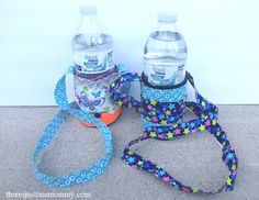 Looking for a fun way to carry that water bottle this summer? Follow these simple directions to make your own duct tape water bottle holder!