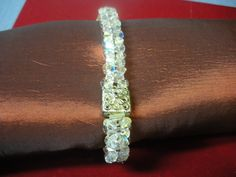 Check out this item in my Etsy shop https://www.etsy.com/listing/175039853/swarovski-ab-color-bracelet