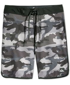 A bold camo print brings plenty of style to these swim shorts from Quiksilver. | Polyester | Machine washable | Imported | Elastic waist with drawstring | Camo print | Web ID:2607430