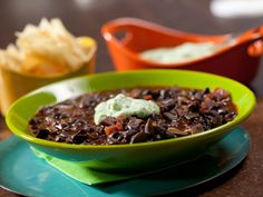 Get this all-star, easy-to-follow Meaty, Meat-less Chili recipe from Rachael Ray