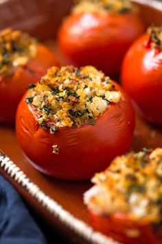 NYT Cooking: A simple mixture of bread crumbs and herbs is all you need to make these Provençal baked stuffed tomatoes. Serve them with nearly any summer meal, even for breakfast alongside fried eggs.