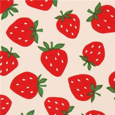 natural color red strafberry fruit laminate fabric from Japan 1