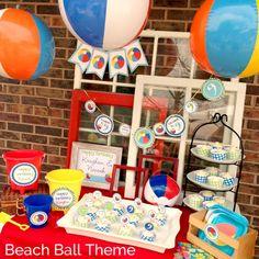 NatalieKMudd: Beach Ball Theme Birthday Party