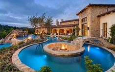 Woodlands Pools Creekside Residential Lazy River Pool Cost In Stunning Backyard Fire Pits Page 2 Of 4 – Pool Design Lazy River Pool, Swimming Pool Designs, Swimming Pools, Lap Pools, Indoor Pools, Pool Bridge, Casa Patio, Dream Mansion, Luxury Pools