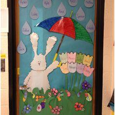 Easter/April showers door decor :)