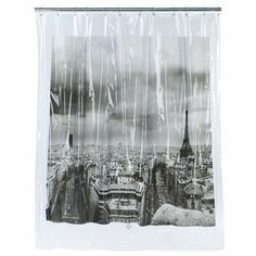 paris, france shower curtain. what better way to start the day then remembering one's goal for a certain dream vacation.