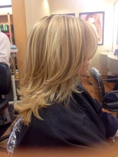 beautiful blonde highlights and lowlights by me :)