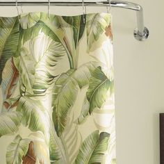 Tommy Bahama Home Palmiers Cotton Single Shower Curtain Tommy Bahama, Zen Bathroom, Bathroom Ideas, Fiesta Theme Party, Different Shades Of Green, Palmiers, Rustic Bathrooms, Coastal Bathrooms, Tropical Style