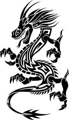 Thin Line Dragon Hailin Tattoo Studio WeHo USA Tattoos: Best Dragon Tattoo Images Designs Meanings Jhaiho. Thin Line Dragon Hailin Tattoo Studio Weho Usa Tattoos. Tribal Animal Tattoos, Tribal Dragon Tattoos, Tribal Drawings, Tribal Animals, Dragon Tattoo Images, Dragon Tattoo Designs, Dragon Silhouette, Silhouette Art, Arte Tribal