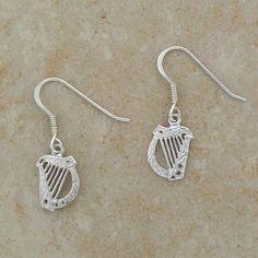 Sterling Silver Celtic Harp Drop Earrings  http://www.squidoo.com/beautiful-belleek-harp-irish-blessing-plate