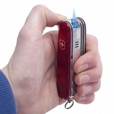 Swiss Flame: A Swiss Army Knife with a Built-in Lighter