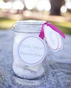 DIY Ice Cream Making Kit, Wedding Favor Idea! Canning Jar, Vanilla Powder, Creamer Packets, Sugar Packets. Mix together with Ice and SHAKE!