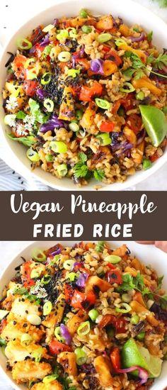 Rice Recipes, Veggie Recipes, Asian Recipes, Whole Food Recipes, Vegetarian Recipes, Ethnic Recipes, Veggie Fries, Veggie Stir Fry, Delicious Vegan Recipes