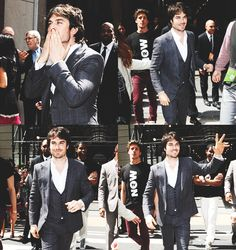 Ian Somerhalder outside 'the London Hotel' on May 16, 2013 in New York City - CW upfronts 2013