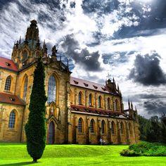 Kladruby church by Santini Aichel. Czech Republic