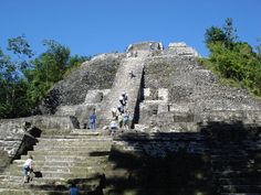 One of the more interesting and picturesque Mayan ruins in Belize, Lamanai features three large pyramids