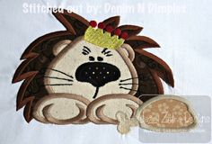 Lion King of the Jungle Appliqué Embroidery Design