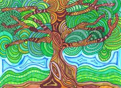 very cool doodle tree.