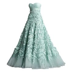 Flirty Frocks ❤ liked on Polyvore featuring dresses, gowns, vestidos, long dresses, green evening dresses, long green evening dress, green ball gown and green dress