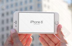 Real world setting iPhone 6 mockup for Photoshop