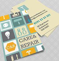care & repair Business Card
