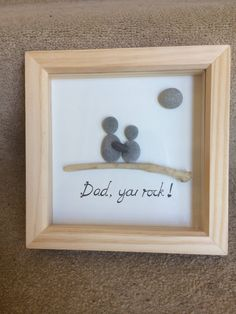 Pebble art - Dad, you rock! by PeblPobl on Etsy