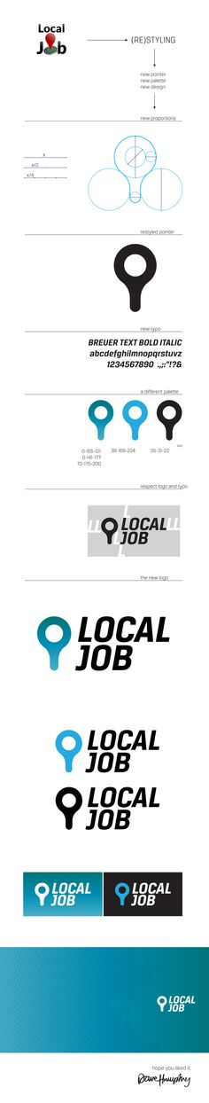 Local Job - restyling the logo by Dave Humphrey, via Behance