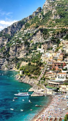 Positano, Italy. One of the most beautiful places I've been.