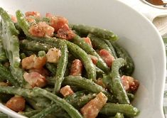 Haricots Verts à la Carbonara WW – Plat et Recette WW carbonara beans, recipe for a good creamy dish, light and original, easy and stiff to make, perfect to serve with cooked pasta. Green Bean Dishes, Green Bean Recipes, Green Beans, Plats Weight Watchers, Clean Eating, Menu Dieta, How To Cook Pasta, Healthy Dinner Recipes, Healthy Food