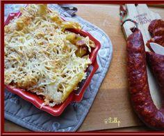 Recette Grâtin de pâtes au chorizo et au curry par cuisinerpassion - recette de la catégorie Pâtes & Riz
