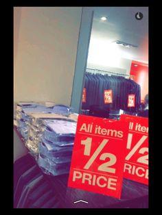 EJ Menswear 1/2 PRICE SALE starts Thursday morning 7 AM