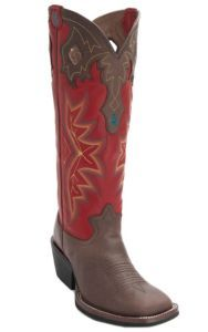 Tony Lama® 3R™ Men's Bay Brown w/Barn Red Tall Top Double Welt Square Toe Buckaroo Western Boots | Cavender's