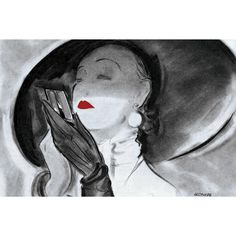"Marmont Hill - ""Hat Lady 1"" by Saturday Evening Post Painting Print on"
