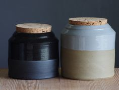 stoneware canister  by vitrified studio (in Portland, OR)