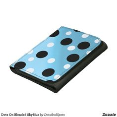 Dots On Blended SkyBlue Leather Trifold Wallet