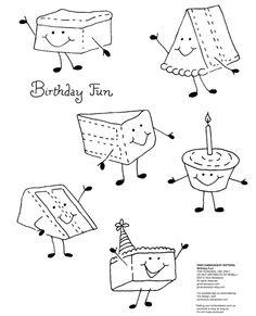 birthday fun free embroidery pattern