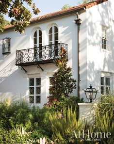 Inspired by California and its Spanish Colonial architecture, landscape designer Chris H. Olsen gives an iconic North Little Rock home a much-needed exterior update // Arkansas home Spanish Revival Home, Spanish Colonial Homes, Colonial Style Homes, Spanish Style Homes, Spanish House, Spanish Home Decor, Spanish Architecture, Colonial Architecture, Beautiful Architecture