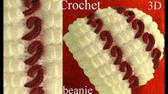 Gorro a Crochet en punto 3D terroncitos de azúcar y bastoncitos tejido tallermanualperu - YouTube