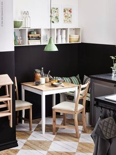Ikea kitchen with two-tone walls | Daily Dream Decor