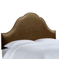 House of Hampton Brighton Nail Button Upholstered Panel Headboard Upholstery: Groupie Praline, Size: King