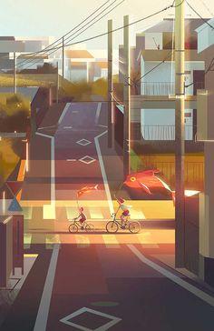 Between Dreams and Reality by Jenny Yu. #art #illustration #digitalart #happiness #jennyyu