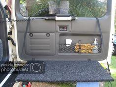 Y camp/rear door table - PradoPoint - Toyota Prado Landcruiser Forum Cargo Trailer Camper, Tiny Camper, Off Road Wagon, 4x4, Life Table, Towing Vehicle, Lexus Gx470, Door Table, Toyota Land Cruiser Prado