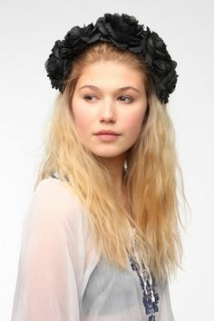 Cult Gaia Midnight Flower Crown Headwrap