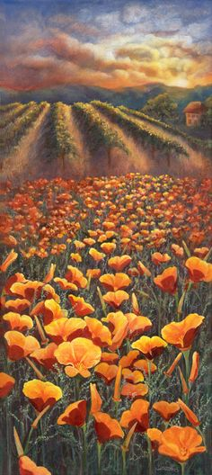 Fields of Gold - 16x36 Landscape Painting by Joey Cattone - NUMA Gallery