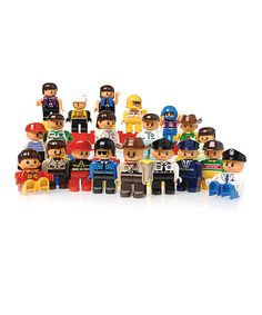 Another great find on #zulily! People for Preschool Building Blocks Figurine Set by Constructive Playthings #zulilyfinds