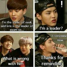 Memories in exo showtime {when kris say ''I'm a leader?'' lols pic.twitter.com/bRj2wa5XjS