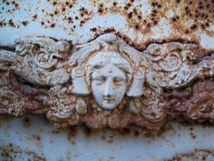 Cemitério dos Prazeres (Cemetery of Pleasures) - Lisboa / Lisbon, Portugal . photo by Bonnie Rose Bryan #mausoleum #tomb #angel #rust