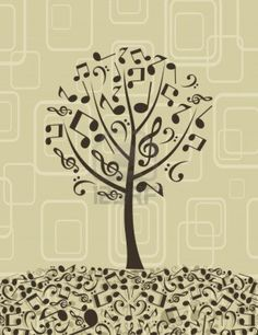 tree from music notes