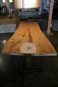 Natural live edge alligator juniper wood slab coffee table for Finishing live edge wood